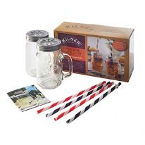 Kilner 9 Piece Mug, Lid, And Straw Set